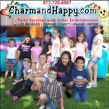 Los Angeles Face Painter CharmandHappy 877-725-6967