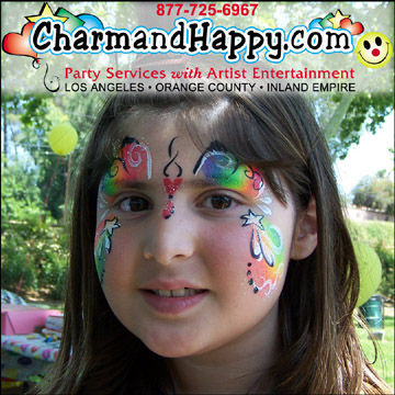 CharmandHappy.com Los Angeles Face Painter Whittier Downey Santa Fe Springs Norwalk Fullertaon Brea Montebello Commerce Long Beach