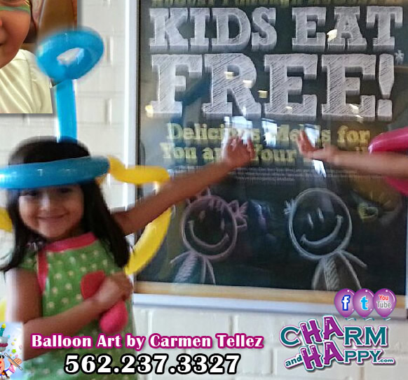kids eat free cocos bakery restaurant kids night restaurant entertainment charmandhappy carmen tellez los angeles socal orange county balloon artist face painter