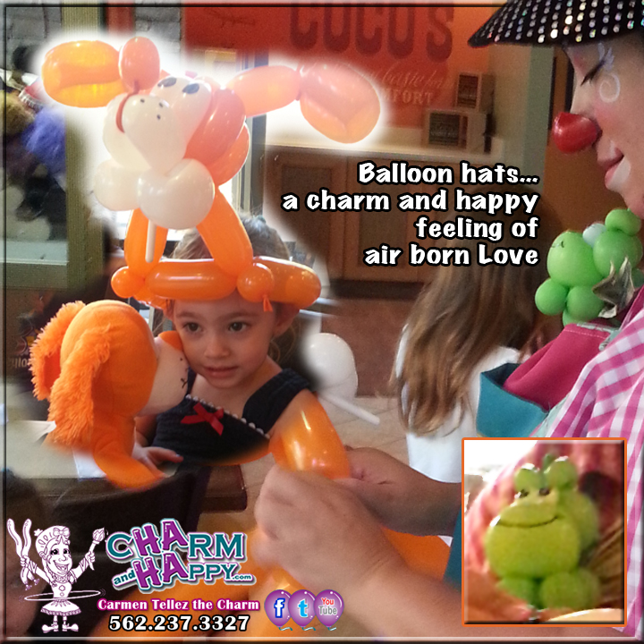 balloon art animal dog los angeles socal party entertainment charmandhappy 562-237-3327