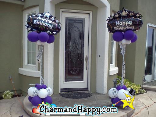 CharmandHappy.com offers Budget Balloon Decorations with columns