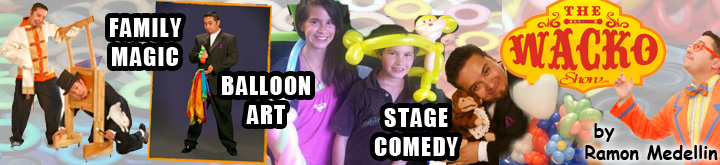 ENTERTAINERS: Clowns | Magicians | Puppet shows | Pinky the bear | Princess parties | Singing telegrams