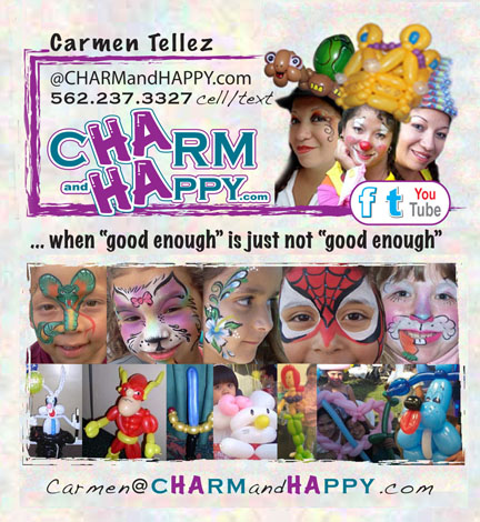 Carmen Tellez Professional Entertaining Artist travels from Los Angeles, CA to South Bend Indiana and most major cities nationwide