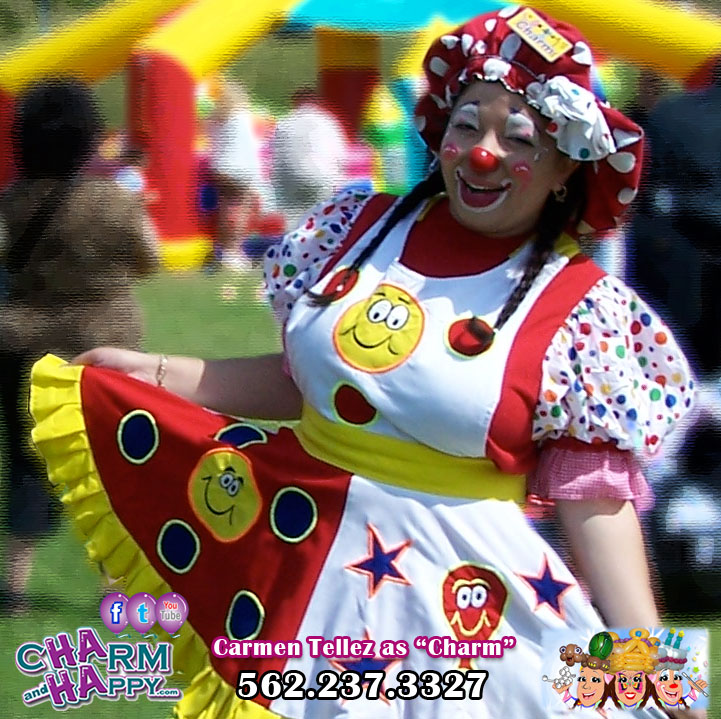 charmandhappy clown birthday party entertainer whittier los angele socal