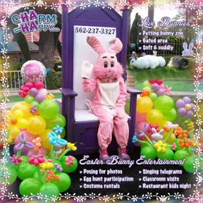 easter bunny rabbit entertainment socal los angeles orange county oc charmandhappy.com 562-237-3327