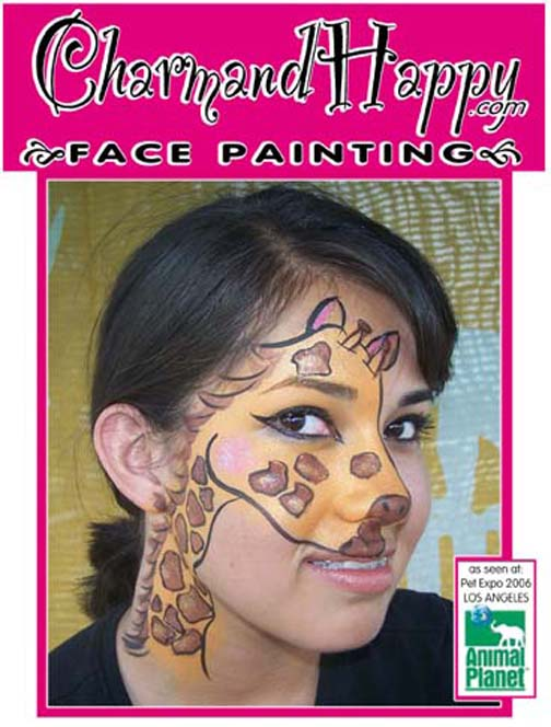 Animal Planet Pet Expo hosted by Mario Lopez 2006. Face Painting by Carmen Tellez of CharmandHappy.com face painter for Animal Planet Pet Expo Los Angeles birthday party clowns Beverly Hills, Rolling Hills, San Pedro, Newport Coast, Mission Viejo, San Bernardino, San Dimas, Duarte, Whittier