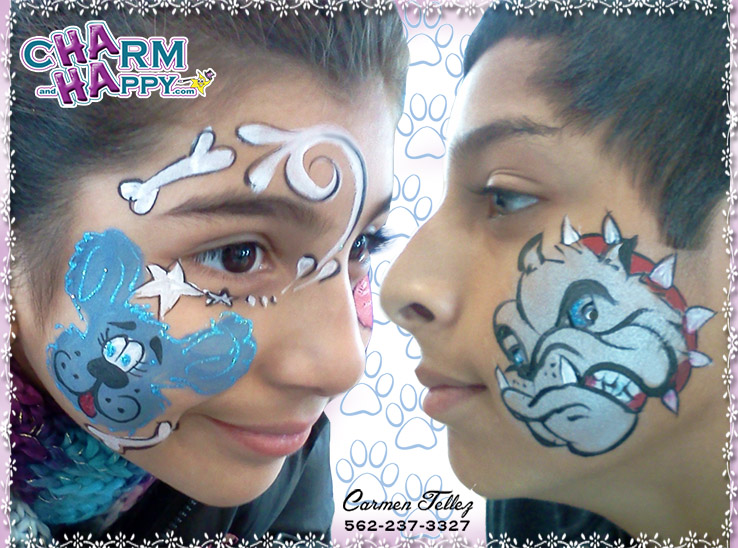 CharmandHappy.com San Jacinto Beaumont Perris Hemet Menifee CA face painter for hire