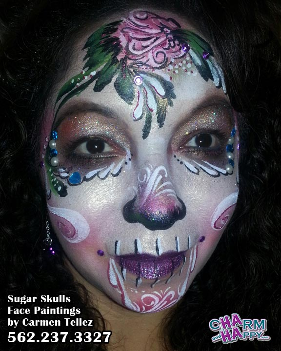 cat face painting Carmen Tellez CharmandHappy kitty whittier los angeles socal
