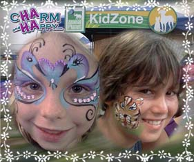 face painter los angeles socal orange county charmandhappy 562-237-3327 mask cheek art