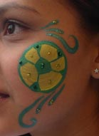 Carmen Tellez - Face Painter - 562-948-5342 - Go for the Gold L.A. Galaxy Soccer team Los Angeles
