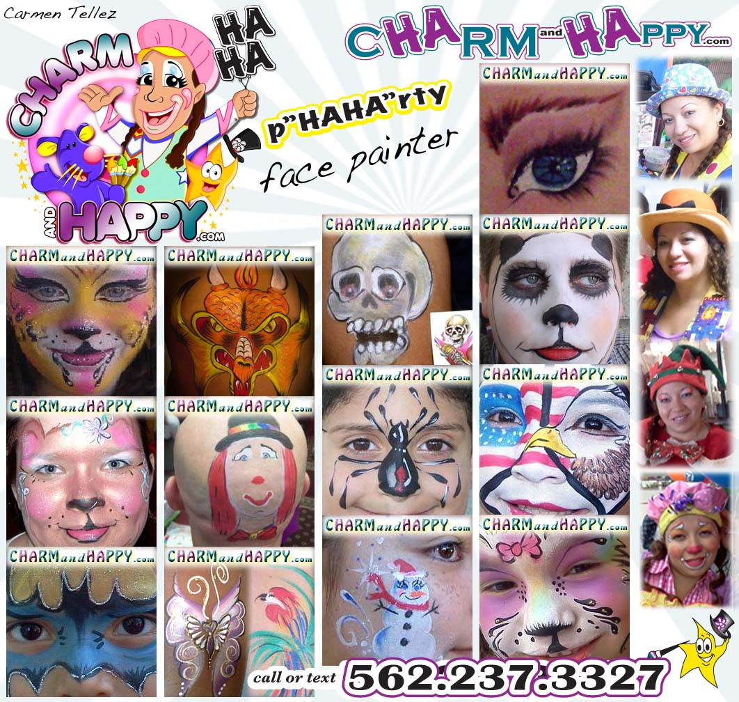 Charmandhappy Com Face Painter Whittier Cheek Art Full