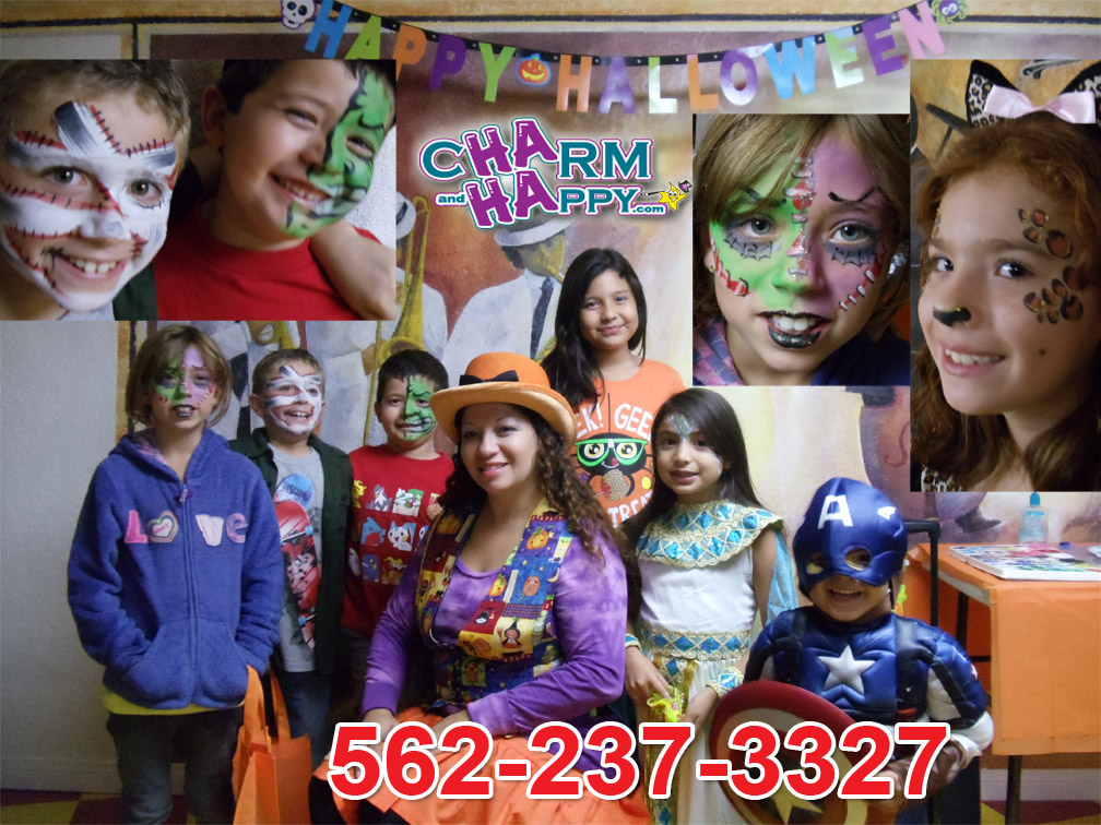 halloween face painter, sugar skulls face painter, charmandhappy, los angeles face painter