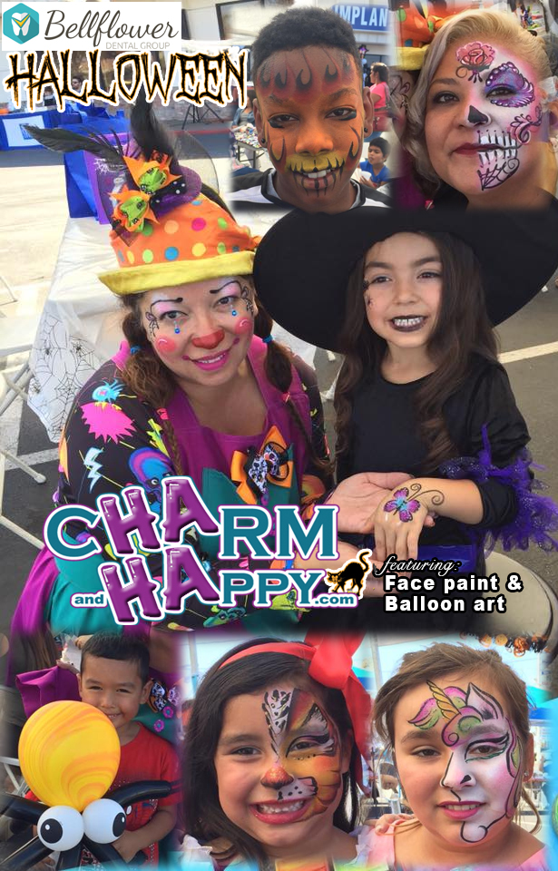 Clown CharmandHappy.com halloween birthday party Hemet San Jacinto Temecula Menifee