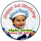 Child's birthday button hollywood