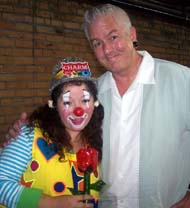 Charm the clown with Ringling Circus clown Mark Renfro
