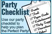 Online Party Checklist link to Party Supply options