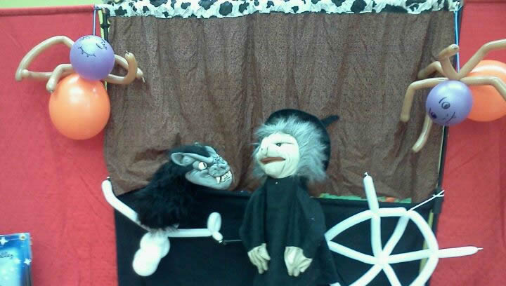 preschool kinder halloween puppet show  entertainment CharmandHappy.com Perris SoCal