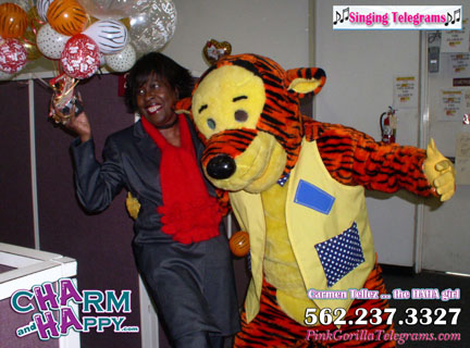 tiger singing telegram los angeles socal oc orange county