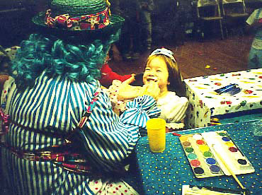 Little ones love face paint too