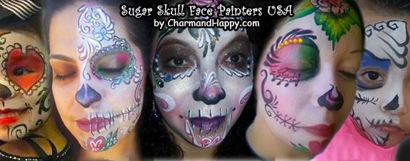 sugur skulls face painters usa by CharmandHappy.com