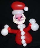 Santa balloon art