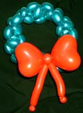 xmas wreath balloon art