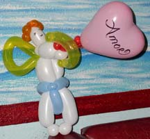 Balloon art of cupid