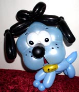 blue bull dog puppy balloon art