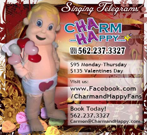 valentines singing telegram cupid balloon delivery los angeles socal