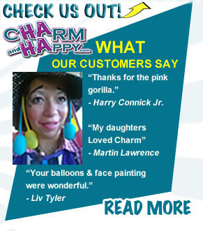 Charmandhappy customer feedback testimonial whittier los angeles socal face painter balloon artist