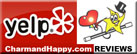 CharmandHappy.com is now set up to welcome & appreciate your reviews on Yelp.